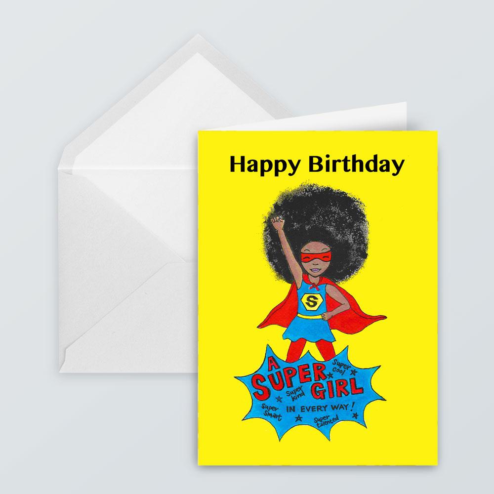 JSC11 - Afro Super Girl Card