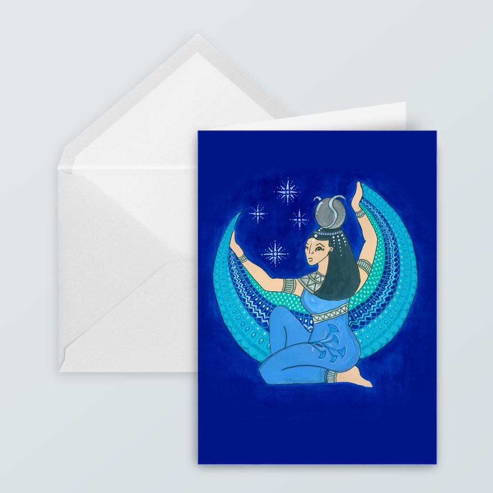 JSC28a - Goddess Isis Blue Card